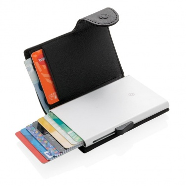 Logo trade corporate gifts image of: 1. C-Secure RFID card holder & wallet, black