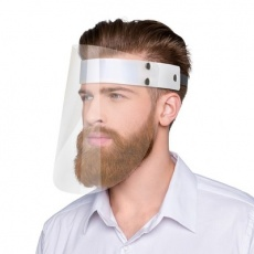 Face shield, transparent/white