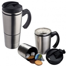 2-in-1 thermal mug 'Hadley'  color grey