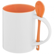 Ceramic cup SAVANNAH  color orange