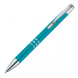 : Metal ball pen 'Ascot'  color teal