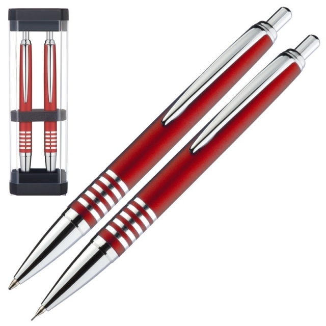 : Metal writing set 'Cologne'  color red